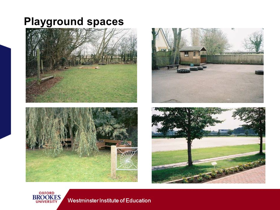 Westminster Institute of Education Playground spaces