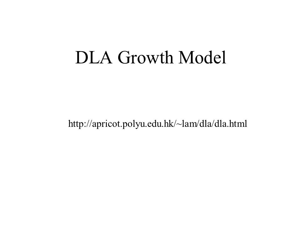 DLA Growth Model