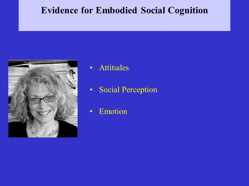 Evidence for Embodied Social Cognition Attitudes Social Perception Emotion