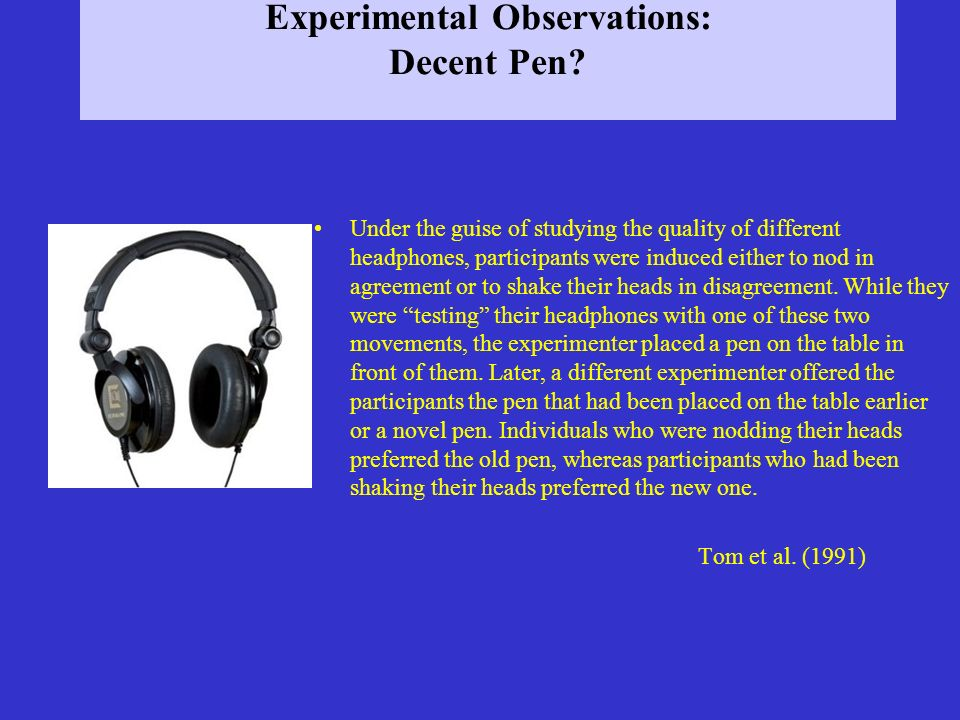 Experimental Observations: Do You Agree.
