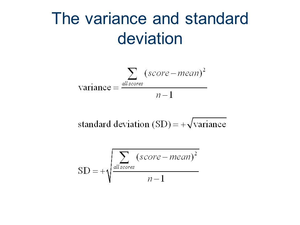 14 The variance and standard deviation