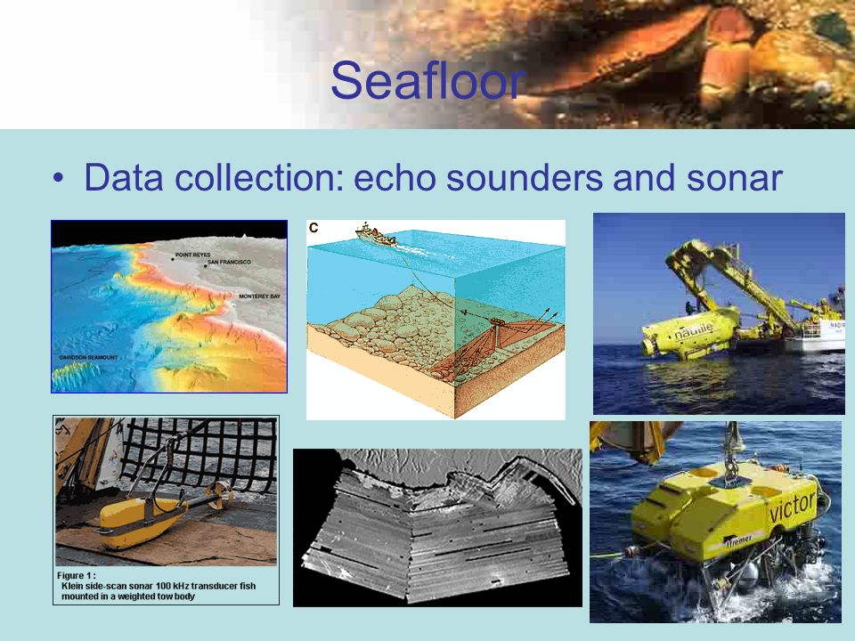 32 Seafloor Data collection: echo sounders and sonar