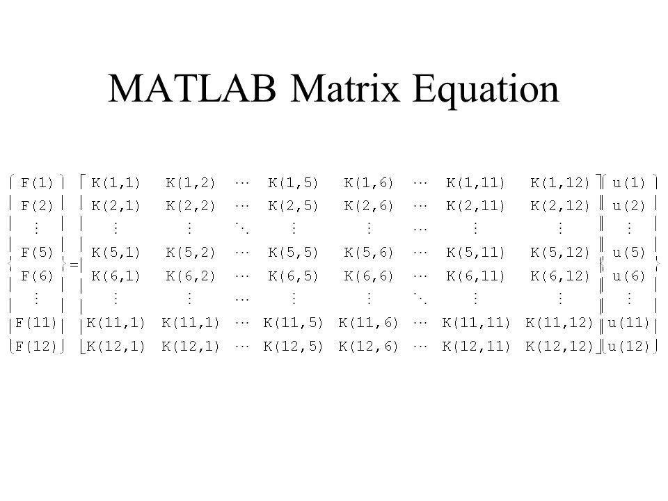 MATLAB Matrix Equation