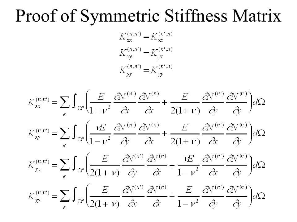Proof of Symmetric Stiffness Matrix