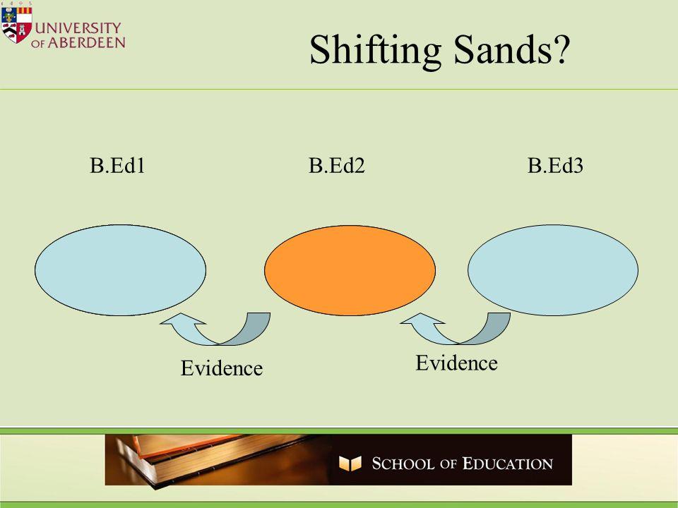 B.Ed1B.Ed2B.Ed3 Shifting Sands? Evidence