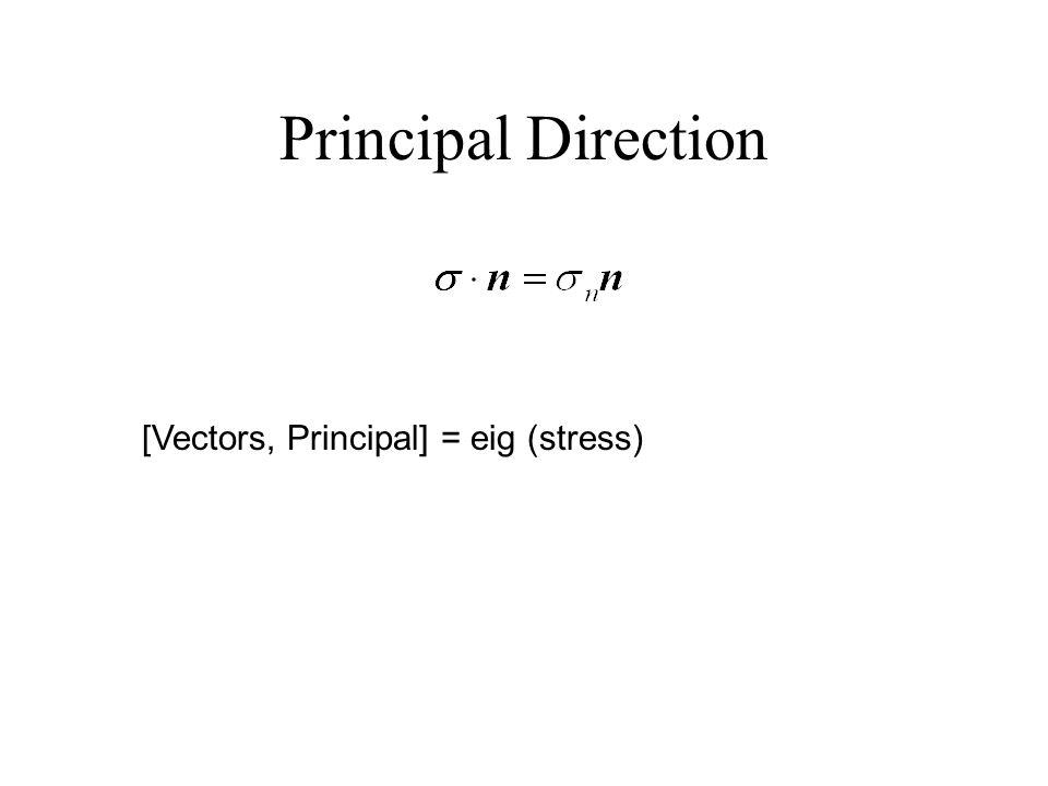 Principal Direction [Vectors, Principal] = eig (stress)