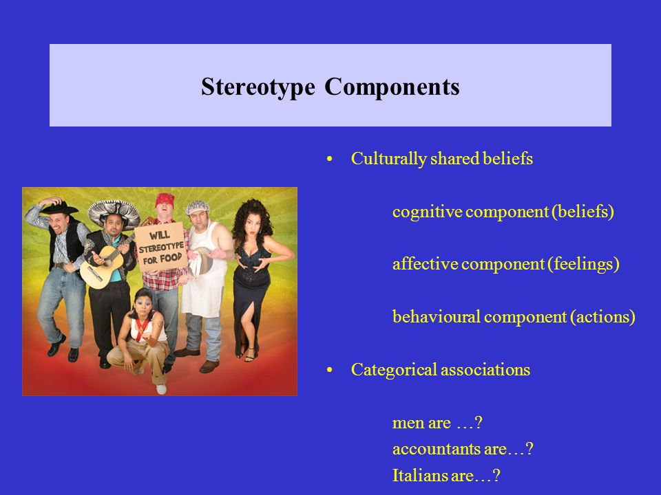 How De We Learn Stereotypes?