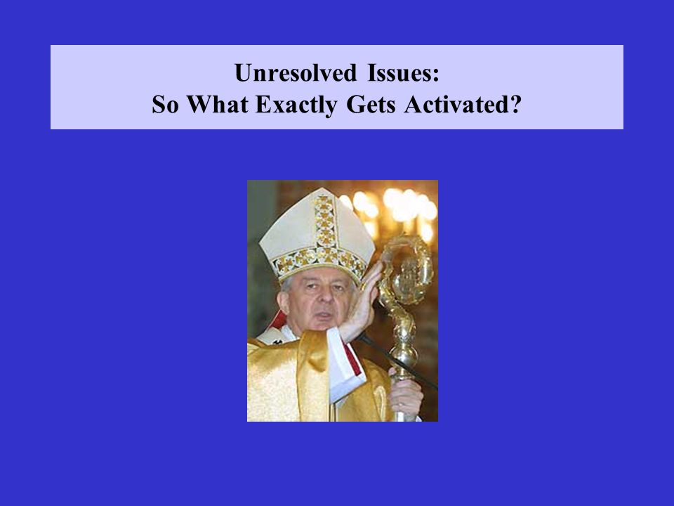 Unresolved Issues: So What Exactly Gets Activated?