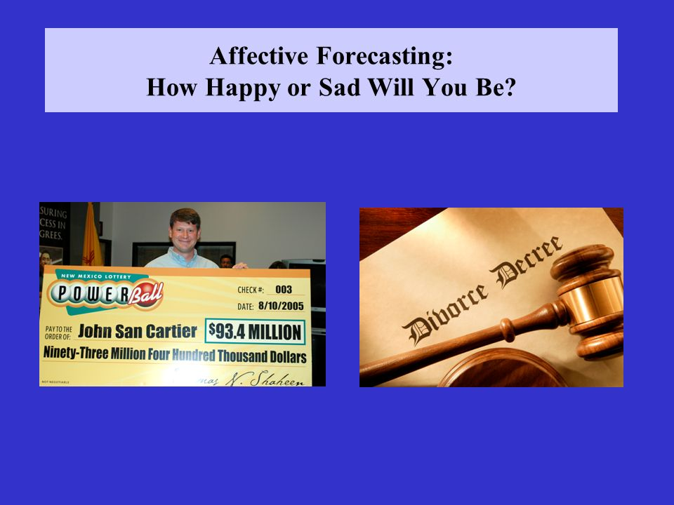 Affective Forecasting: How Happy or Sad Will You Be
