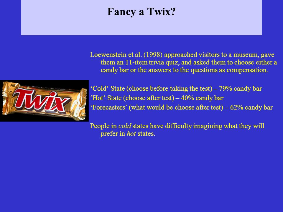 Fancy a Twix. Loewenstein et al.