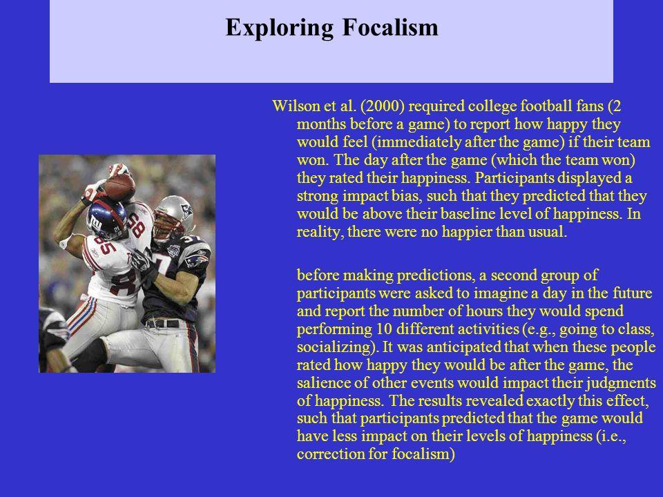 Exploring Focalism Wilson et al.