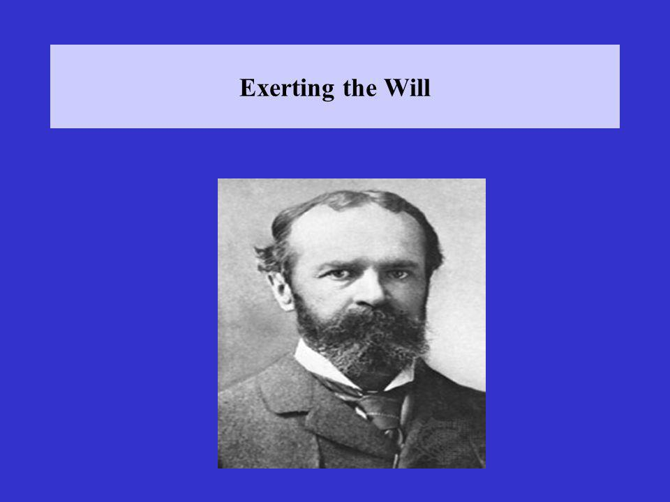 Exerting the Will