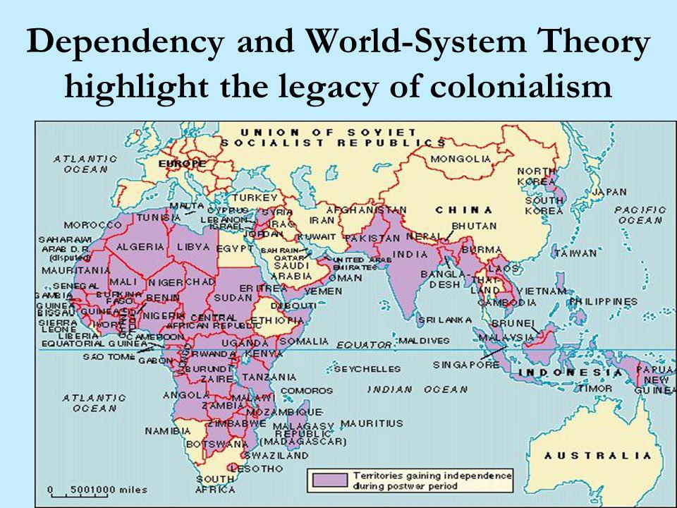 Dependency and World-System Theory highlight the legacy of colonialism