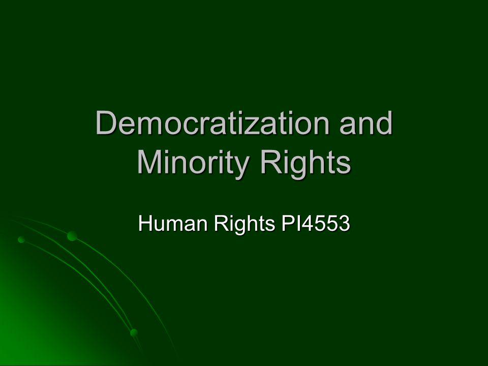 Questions Why are minority rights important and what part do they play in the larger scheme of human rights.