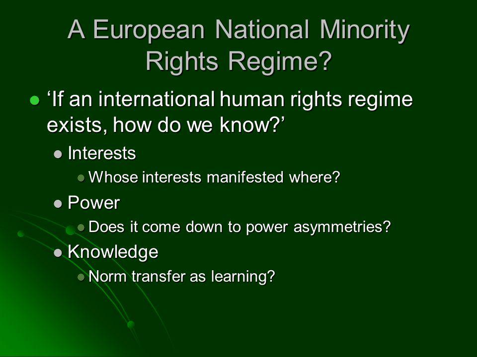 A European National Minority Rights Regime.