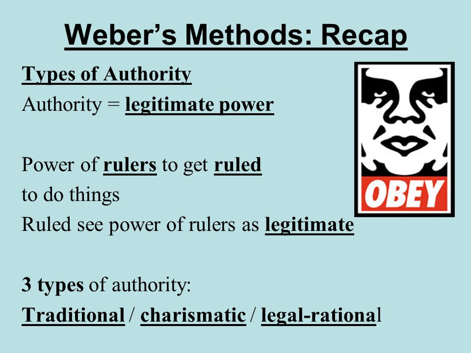 Webers Methods: Recap Value freedom All studies are biased; must admit biases Dont pass off your biases as the truth Value relevance Reality vastly complicated Researcher must choose what to emphasise, what to downplay or miss out Researchers interests shaped by personal & cultural factors