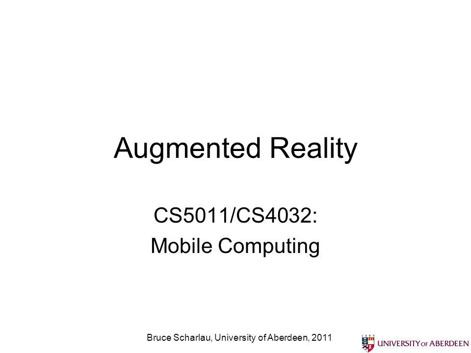 Mobile applications reduce friction Bruce Scharlau, University of Aberdeen, 2011