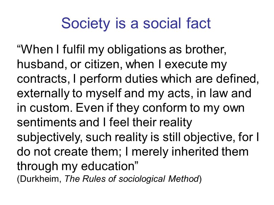 Mechanical solidarity Cohesion in society is the result of resemblance Common beliefs and practices The individual is not distinct from the group