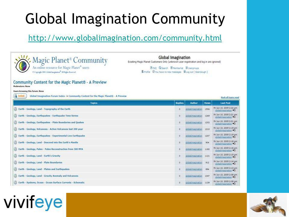 Global Imagination Community http://www.globalimagination.com/community.html http://www.globalimagination.com/community.html