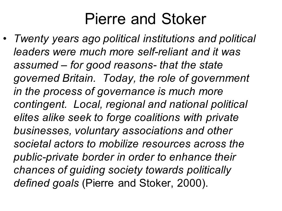 Policy communities MLG based on networks analysis But note basis for identification of power/ decision-making within policy communities in norms and similar attitudes to policy (quote next slide) Without these norms/ agreements are there the same incentives for governments to trade and groups to cooperate.