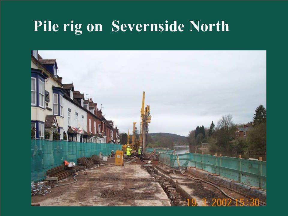 Pile rig on Severnside North