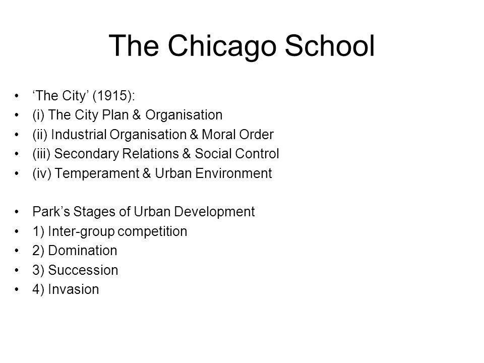 EW Burgesss Model of Urban Growth (1923)