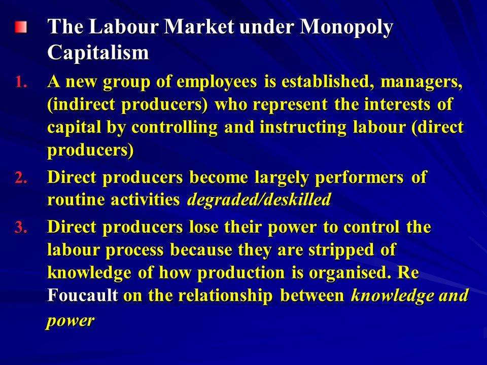 The Labour Market under Monopoly Capitalism 1.