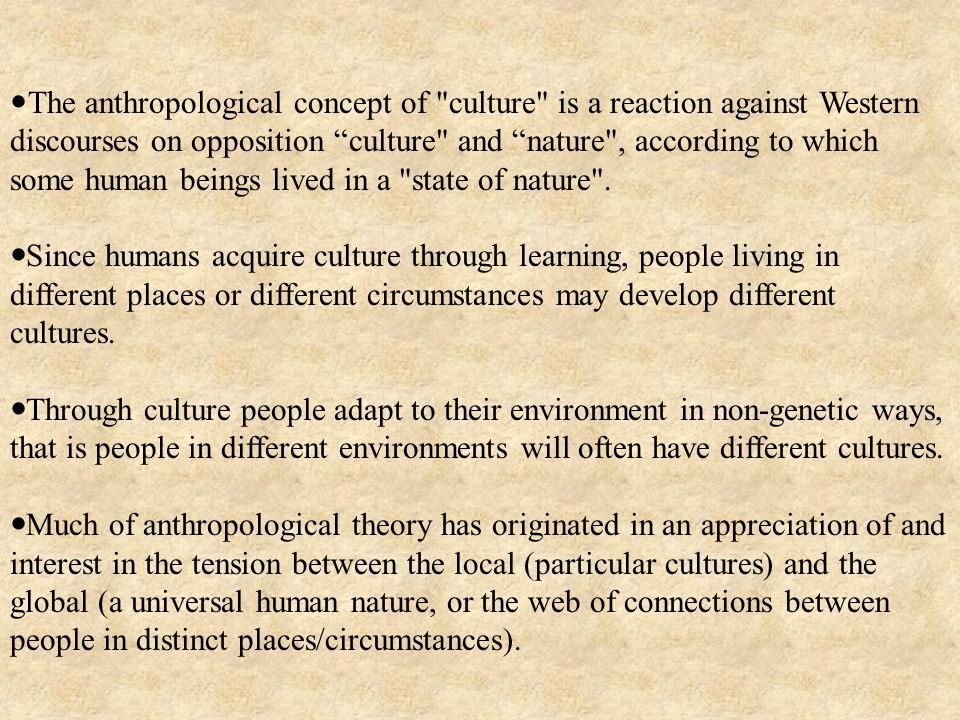 The anthropological concept of