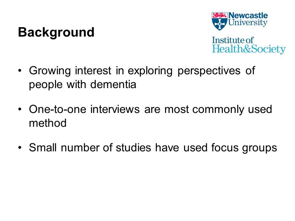 Inclusion criteria Share common experiences.Need specific knowledge (e.g.