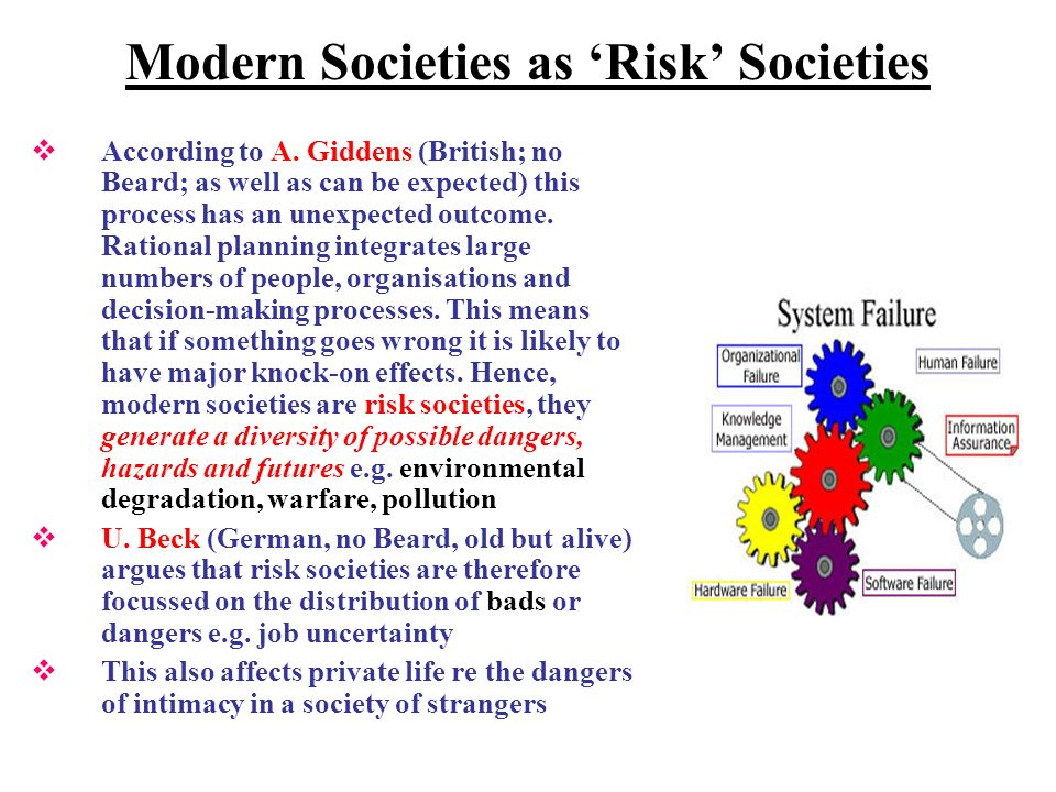 Modern Societies as Risk Societies According to A.