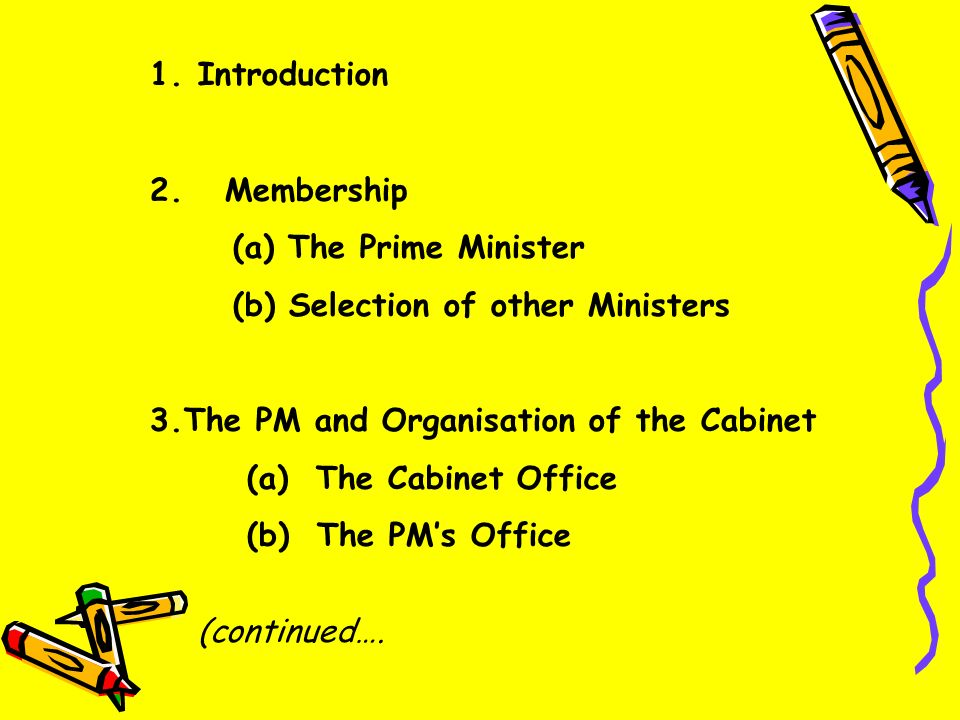 The Prime Minister & Cabinet System