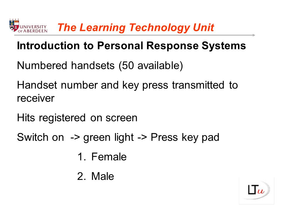 Who are the Learning Technology Unit.