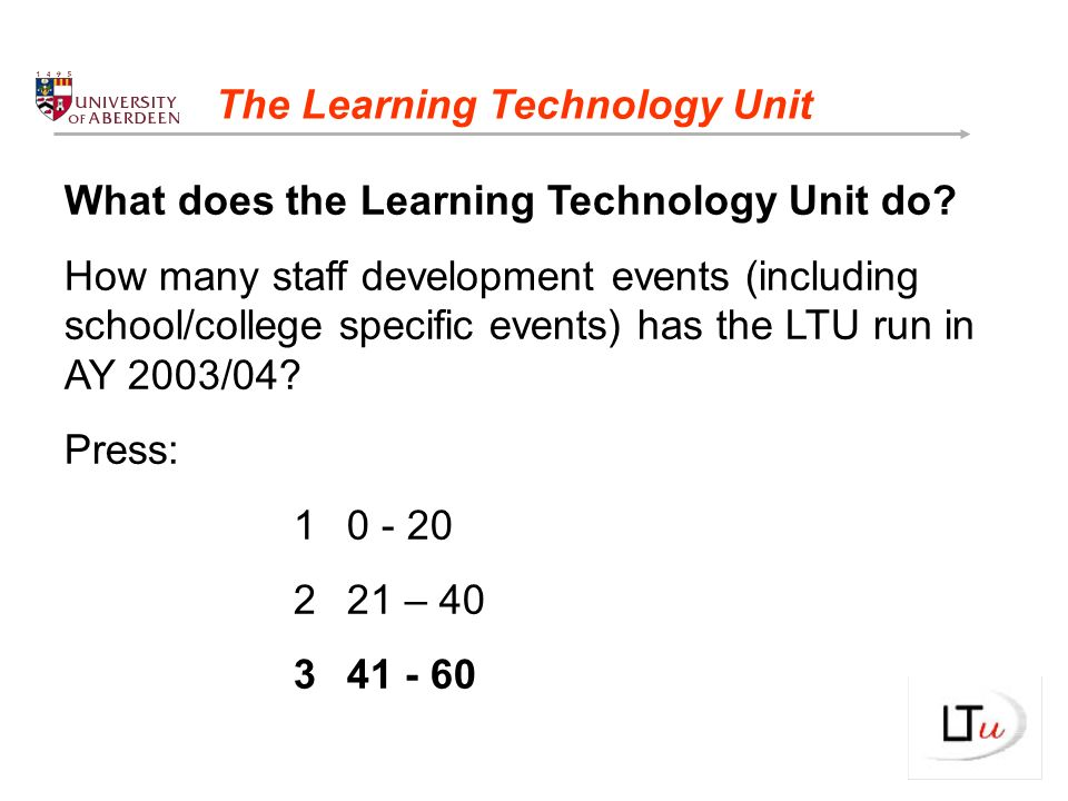 What does the Learning Technology Unit do.