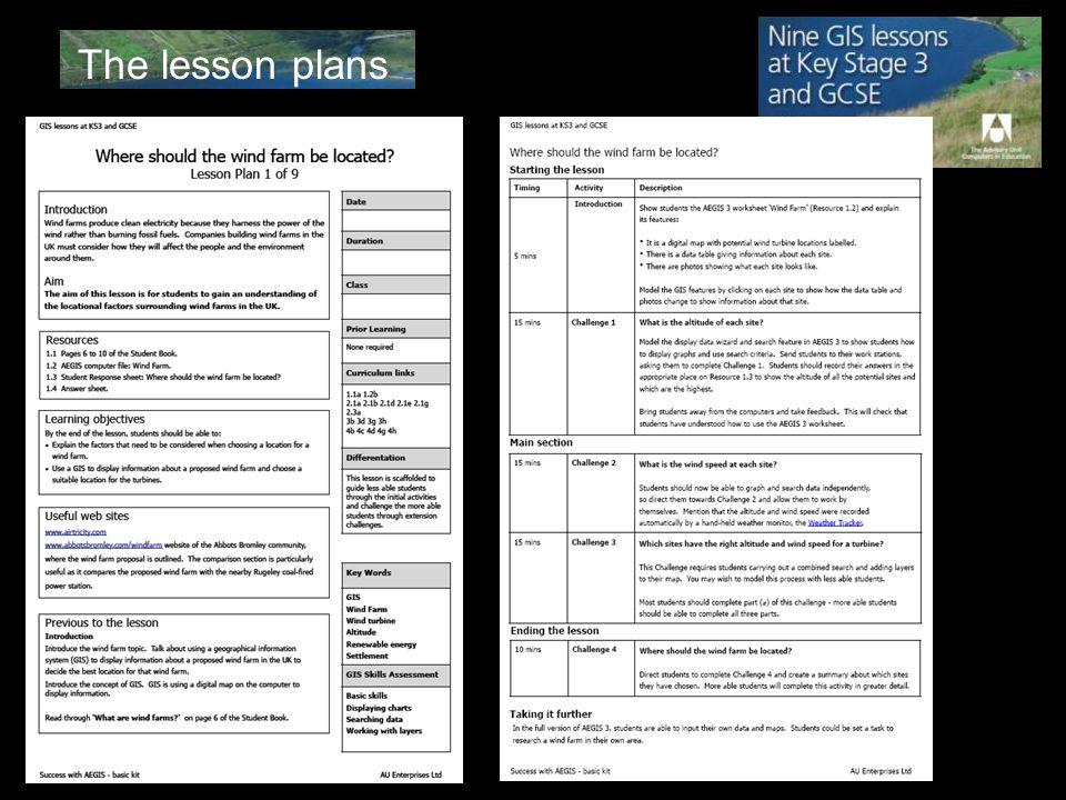 The lesson plans