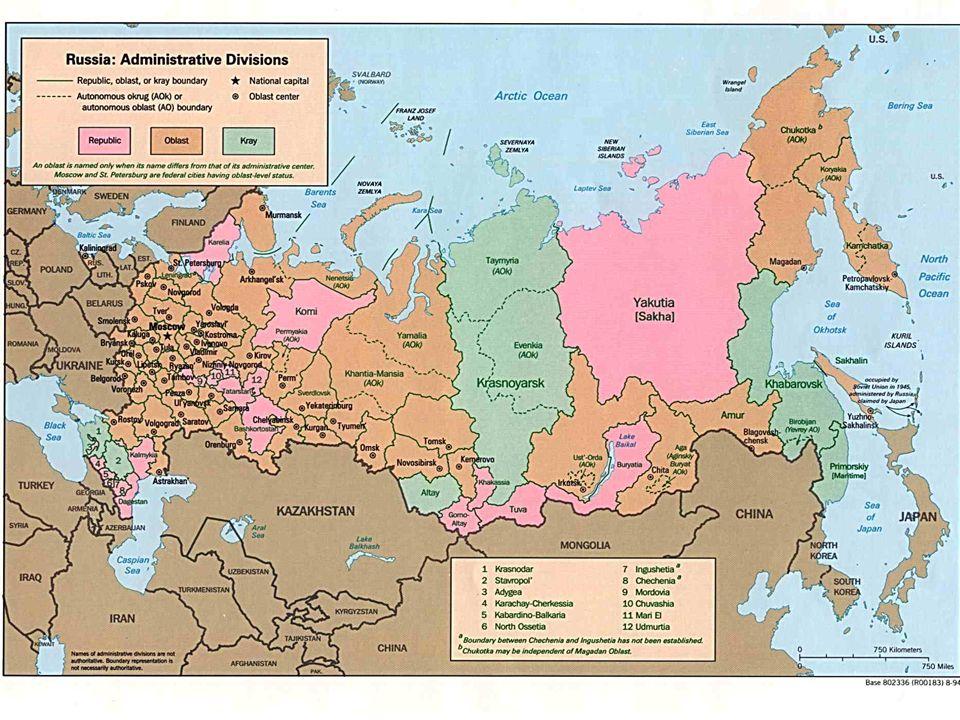 Okrug map Okrug Map