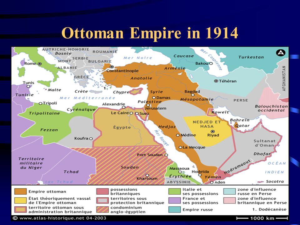Ottoman Governance 1350-1918: Multi-national, -linguistic, -religious empire: oMajorities: Christians in Balkans, Turks in Anatolia, Arabic-speakers in Fertile Crescent, Egypt & N.