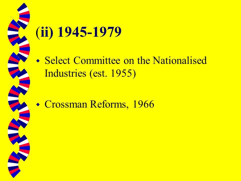 (i) Pre-1945 w Public Accounts Committee (est.