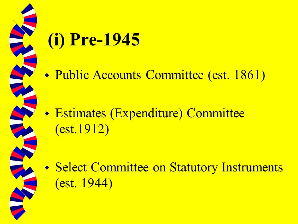(b) Select Committees Pre-1979 w Pre- 1945 w 1945-1979