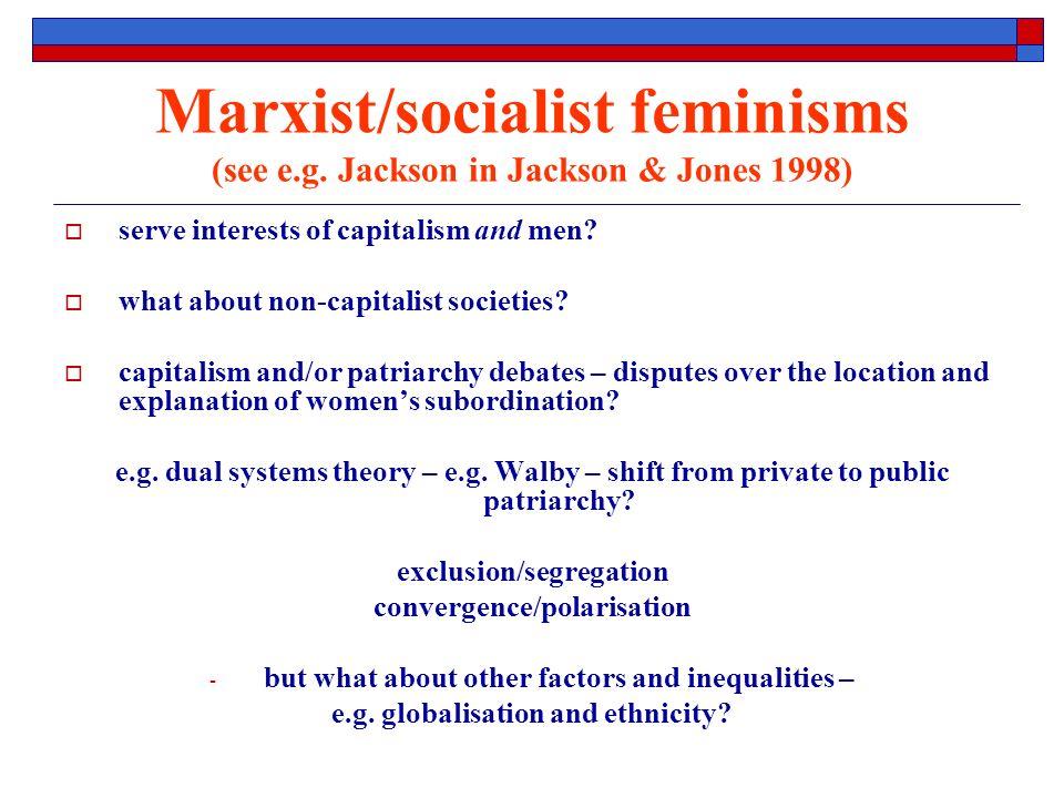 Marxist/socialist feminisms (see e.g.