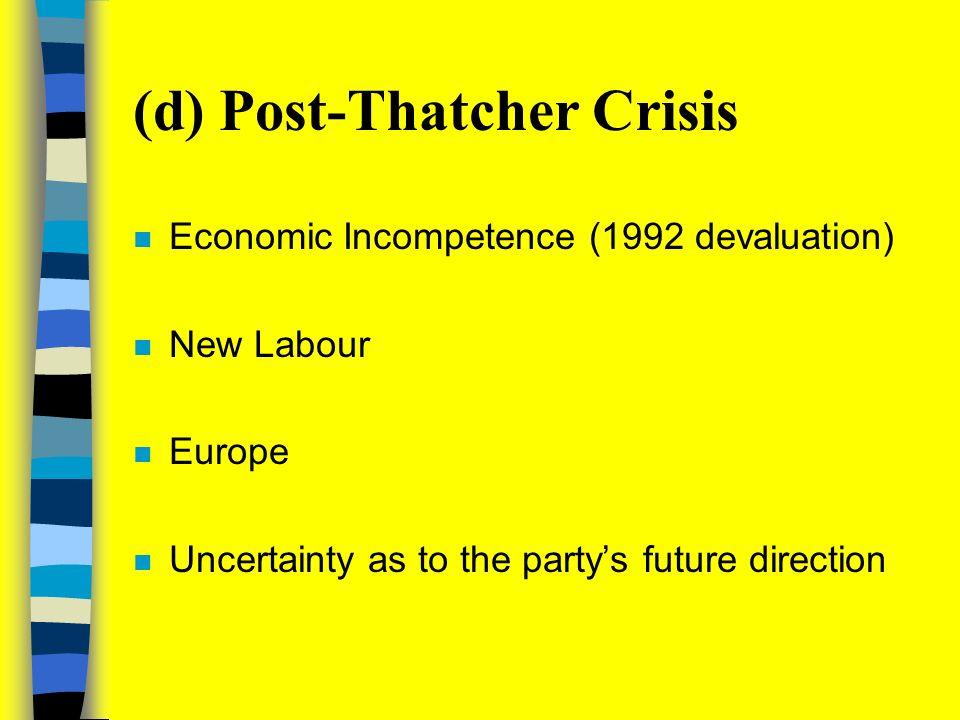 (c) Thatcherism: Sharper Ideological Edge n Economic Liberalism n Social Individualism n English Nationalism