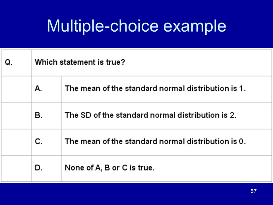 57 Multiple-choice example