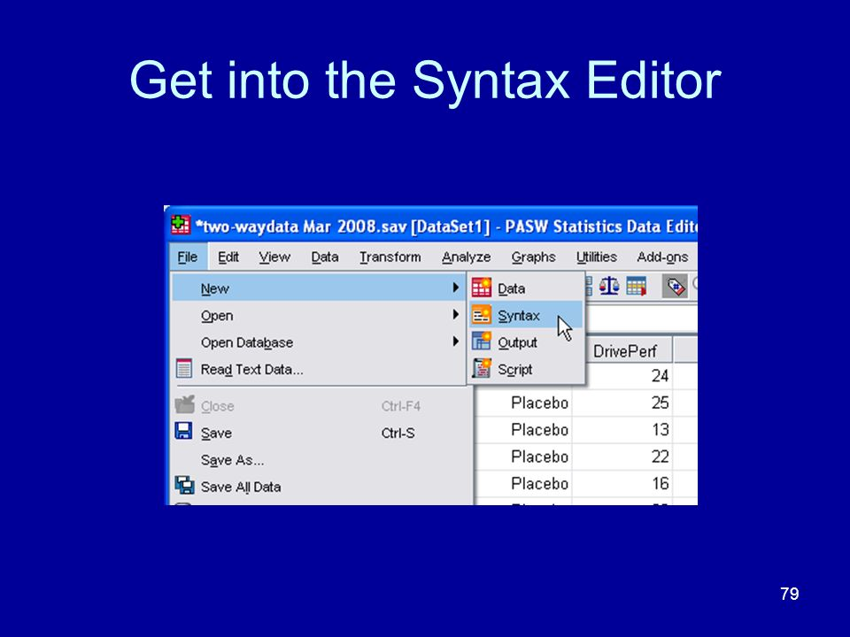 79 Get into the Syntax Editor