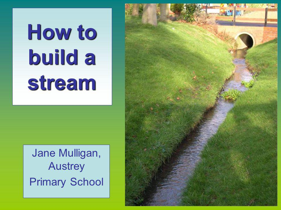 How to build a stream Jane Mulligan, Austrey Primary School