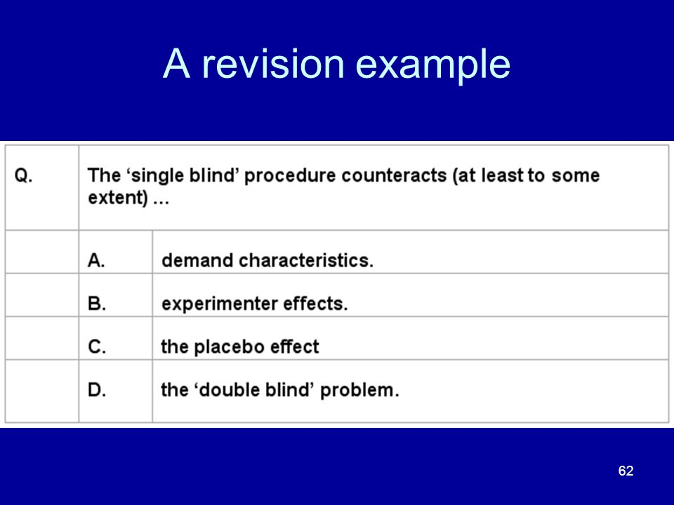 62 A revision example