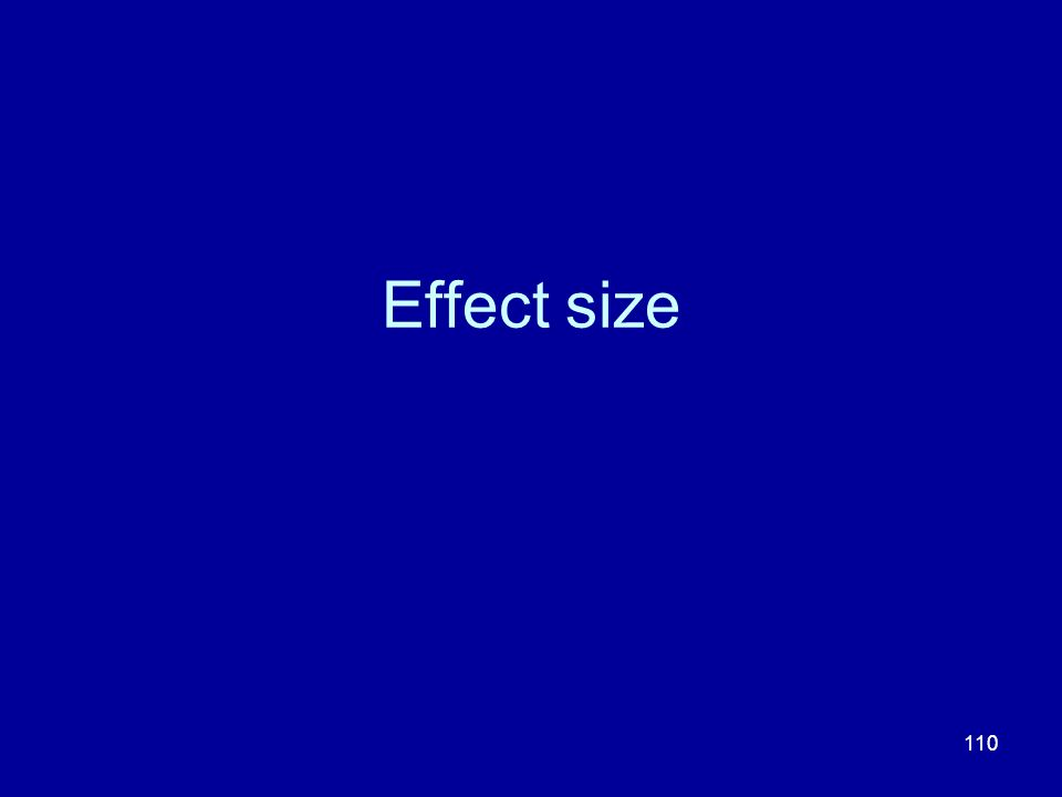 110 Effect size