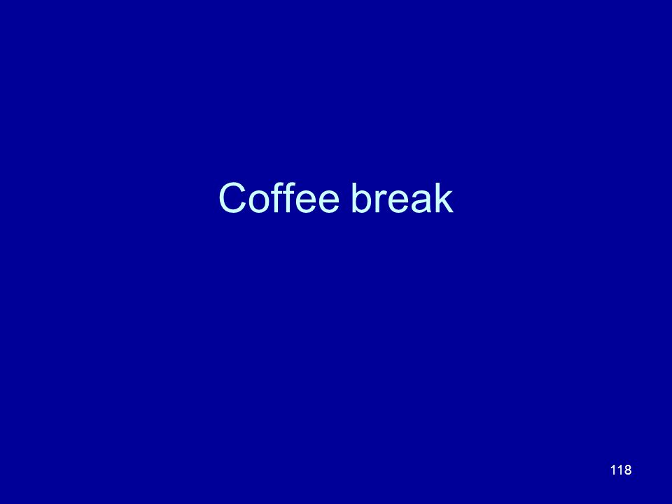 118 Coffee break
