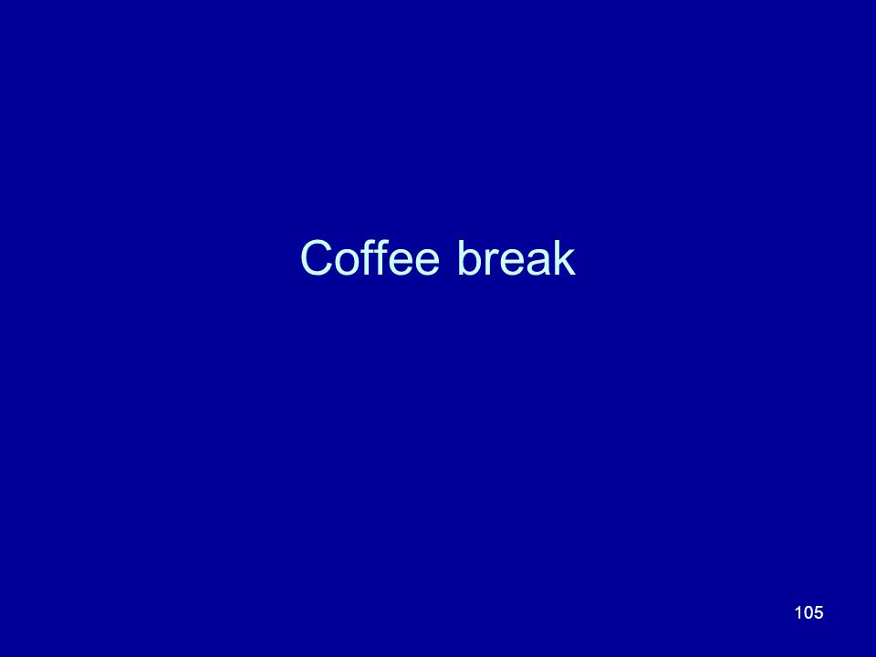 105 Coffee break