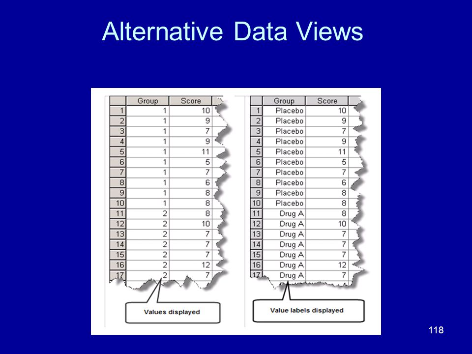 118 Alternative Data Views