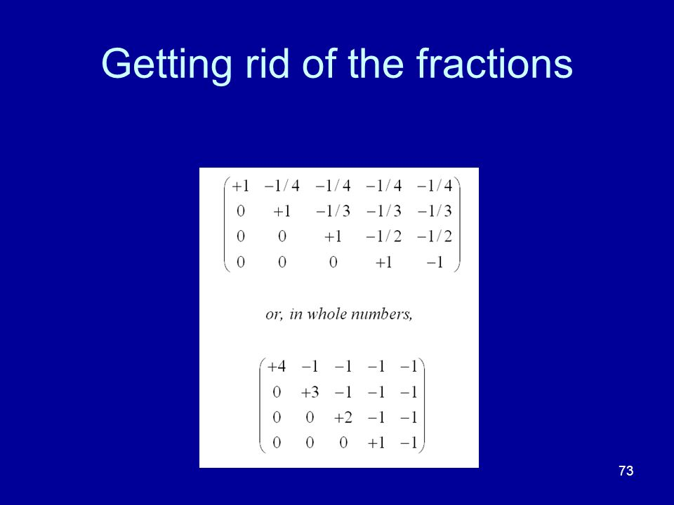 73 Getting rid of the fractions