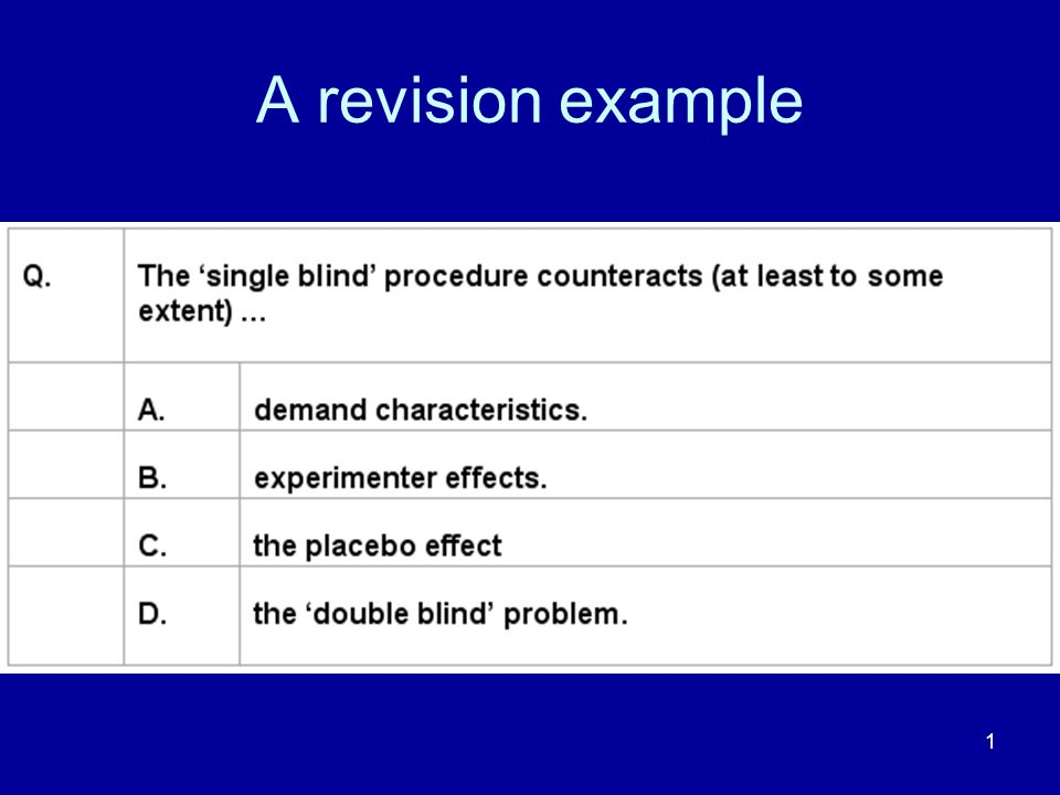 1 A revision example